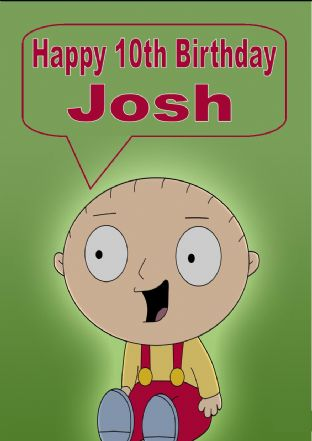 Personalised Family Guy Birthday Card Design 2